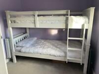 White pine bunk beds