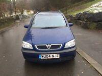 Vauxhall Zafira Energy dti Turbo Diesel 2.0cc 100bhp 5 door mpv 7 seater 04/2004 2 former keepers 10