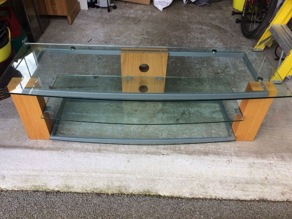 Free To Good Home Ex John Lewis Tv Stereo Stand In Wood And Gl Carbis Bay Cornwall Gumtree