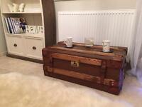 Super cool vintage trunk coffee table