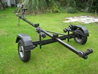 BOAT, DINGHY OR JET SKI TRAILER. Adjustable. With winch
