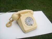 Genuine 1960's GPO 746 Mark 1 Telephone in Ivory Fully Working/Converted. Try it Out Before You Buy!