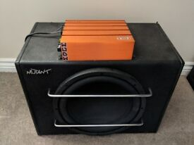 "12"" mutant sub and 300w edge amp"