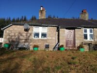 Three bedroom semi detached Cottage for rent near Strathdon £450p/m