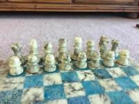 Italian marble chess set