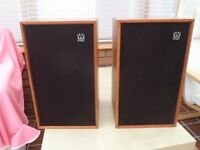 Wharfedale Shelton XP2 Speakers - late 1970's vintage in working order. 2 stands included.