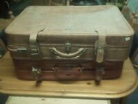 Quality leather suitcases with possible delivery £20