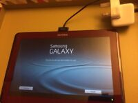 Red Samsung Tablet 10.1 wifi android