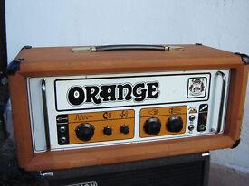 ORANGE OR120 1972 Vintage Tube Amp (Pics Only)