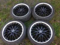 Cruize cross spoke 18 inch alloy wheels 5 x 108 PCD (fits Renault Megane)