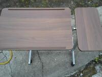 over bed table, hospital bedside table,