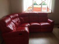 Dfs red sofa corner