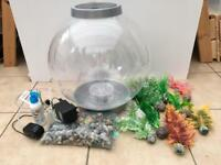 30L Biorb with Pump, Foliage, Stones and Light