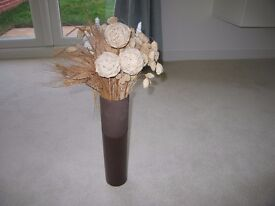 Small Brown Vase with Twigs