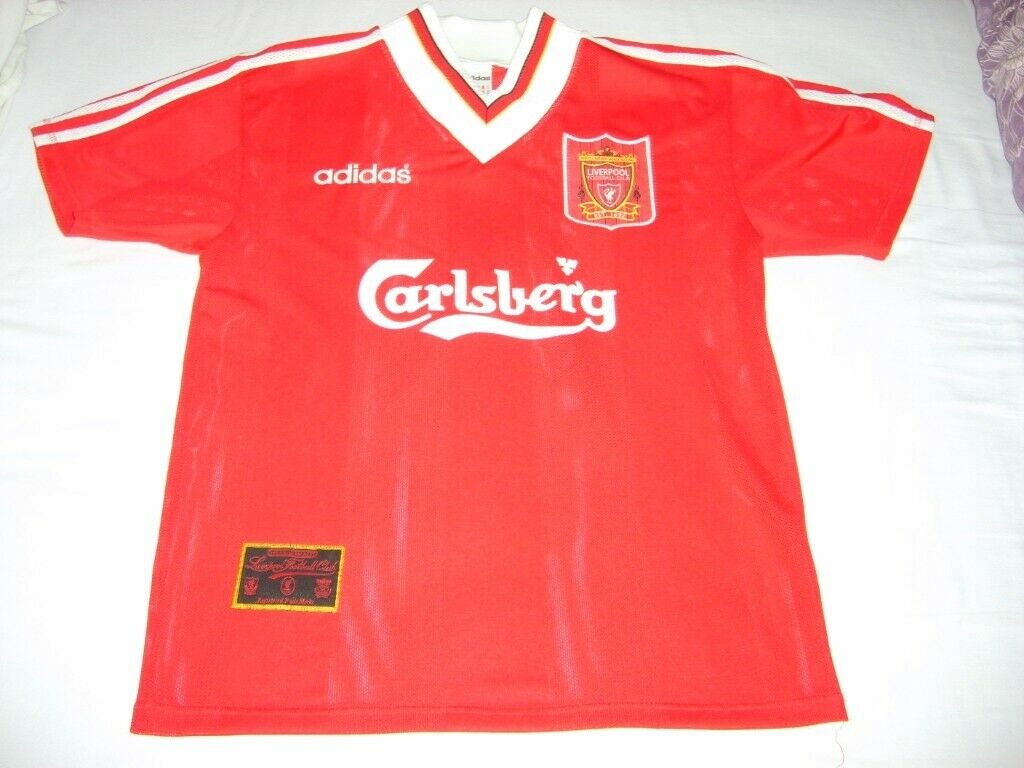 d249e362525 Vintage Retro Liverpool Football Club LFC 95/96 season home jersey/shirt