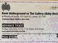 Ministry Of Sound - Fri 22nd July Tickets.