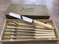 Bone Handled Dessert Knife Set