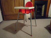 Ikea Highchair and Tray