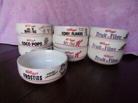 Kelloggs cereal bowls