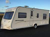 2009 BAILEY SENATOR INDIANA 4 BERTH FIXED BED FULL AWNING NO DINTS OR MARKS WITH ACCESSORIES