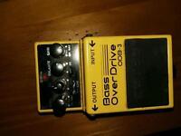 Boss bass overdrive pedal odb3