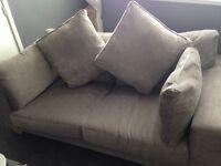 Grey material sofa 2 seats