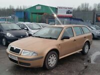 2002 (02 Reg) Skoda Octavia 1.6 Classic 5dr Estate For £395 Mot'd til 16/02/2017