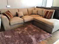 New/Ex-display lovely modern fabric corner sofa