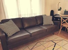MADE .com Dallas 3 seater sofa in Oxford brown premium leather