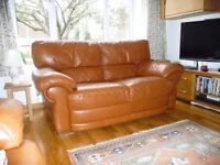 Italian Leather Sofa and matching Armchair