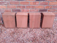 Locharbriggs Red sandstone L-shaped quoins x4 - £30 each
