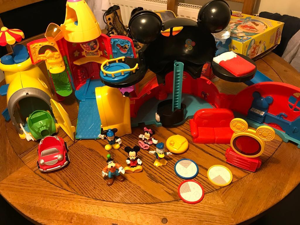 Huge Micky mouse club playhouse set and racers