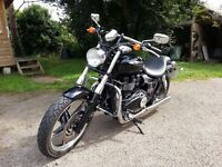 Triumph Speedmaster, low mileage, new model Trident exhausts.