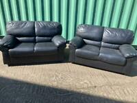 2 seater faux leather sofas