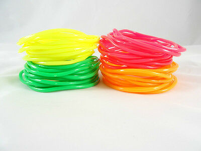 (Set of 144 New Quality Neon Jelly Bracelets Green Pink Orange Yellow #B1008-12)