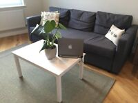Three-seat sofa bed - very comfortable! Dark grey.