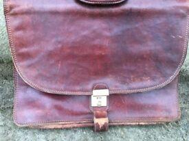 Leather Bridge Briefcase