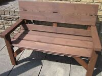 GARDEN BENCH A RUSTIC WOODEN 4 Foot Wide GARDEN BENCH. BRAND New and Hand Made. ***SEE FULL AD***