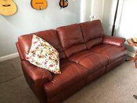 Beautiful John Lewis Leather Sofa