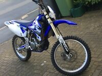 Yamaha wr450f 2005 blue and white electric start