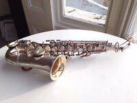 Vintage Buescher curved soprano saxophone