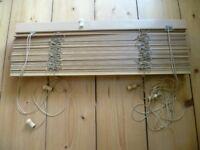 Wooden venetian blinds, very good condition.