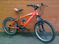 Carrea mountain bike - 20 inch wheels - aluminium frame , full suspension !