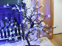 Pair (2) Tree Table Garden Lights (Blue) 22'' x 17 '' (inches)