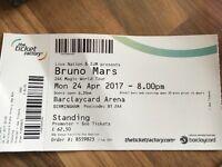 1 Bruno Mars standing ticket - Birmingham