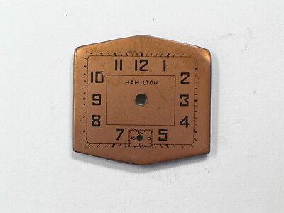 Vintage Unusual Shape Hamilton Wristwatch Dial    (d-62)