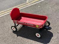 RADIO FLYER TROLLEY CART - FESTIVAL - VW - CHILDS RIDE - BESTIVAL BEER TRUCK WITH BACK SUPPORT