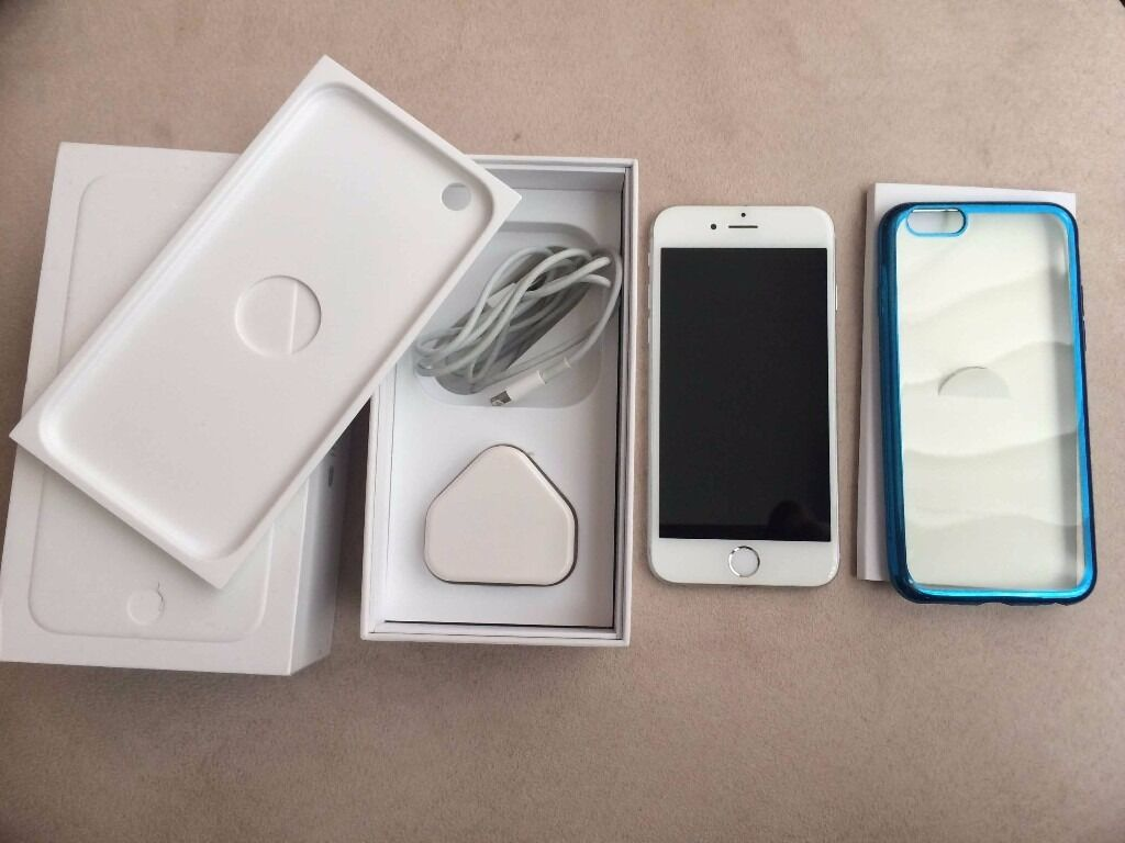 iPhone 6 16GB Unlocked (Silver) in very good conditionin Pendlebury, ManchesterGumtree - Up for sale is an Apple iPhone 6 16GB Unlocked (silver) smartphone. Comes with box, charger, Apple paperwork/ booklets, SIM ejection tool. The phone is in very good Condition and Perfect Working Order. Some minor scratches around (9/10) no mark at...