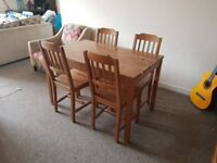 furniture combo: Table / 4 chairs / 2 cabinets