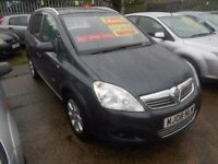 vauxhall zafira 1.6 breeze 5dr 2008 model 68,000 miles,7 seater mpv,full mot on purchase,servicing